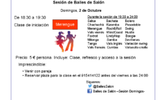 Sesión de baile de salon en Madrid