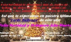 Feliz navida y Año nuevo bailarines
