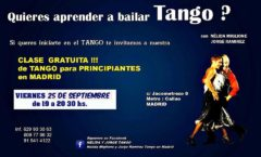 Aprender a bailar Tango